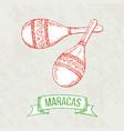 maracas hand-drawing vector image