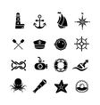 Marine sea nautical pirate maritime vector image