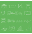 teacher profession and teaching outline icons vector image