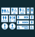 toilet icons and restroom signs vector image