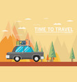 travel lifestyle concept of planning summer vector image