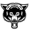 wolf head mascot vector image