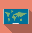 World map flat style vector image