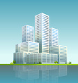 Modern cityscape Business city skyscrapers vector image