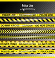 yellow with black police line do not enter vector image