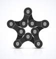 Bike chain star vector image