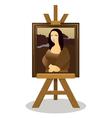 Mona Lisa Easel vector image