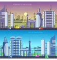 city of the future vector image