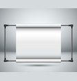 banner stand paper on the room vector image