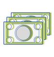 bills cash money to economy business vector image