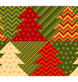 christmas tree green color abstract background in vector image