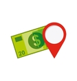 dollars money with business icon vector image