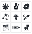 Drugs icon set vector image