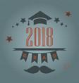 graduation of year 2018 vector image