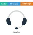 Headset icon vector image