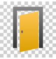 open door gradient icon vector image