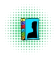Phone book icon comics style vector image