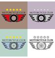Vintage and Retro Motorcycle Club Logo Set vector image