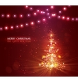 Christmas tree with defocused lights Red vector image