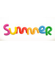 lettering summer 3d plastic letters vector image