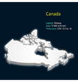 3d map of Canada vector image