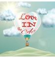 Heart shaped air balloon EPS 10 vector image