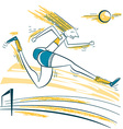 Athlete jumping sport vector image vector image