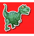 Green T-Rex running alone vector image