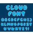 cartoon cloud font vector image