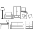 Household furniture vector image vector image