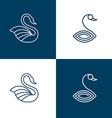 Set of swan logo templates vector image