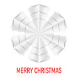 Snowflake Corner paper 09 vector image