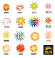 big set of logos sun vector image
