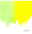 green and yellow watercolor squarer background vector image