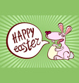 happy easter vintage lettering background vector image