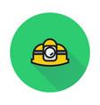 helmet icon on round background vector image