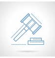 Making decisions abstract blue line icon vector image