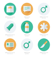 medical Flat Icons Design vector image