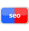 seo word on web button icon isolated on vector image