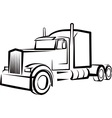 simple with a truck vector image