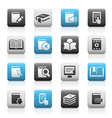Books icons Matte Series vector image vector image
