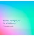 Elegant blue blurred background for web design vector image