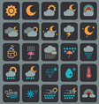 weather icons design vector image vector image