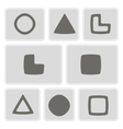 monochrome icons with socionic symbols vector image