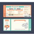 Pastel Retro Boarding Pass Ticket Wedding card vector image vector image