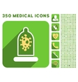 Infection Condom Protection Icon and Medical vector image