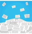 pile of office papers vector image