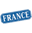 France blue square grunge retro style sign vector image