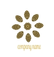 Gold company name for luxury shop vector image