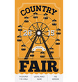 Country Fair Poster vector image